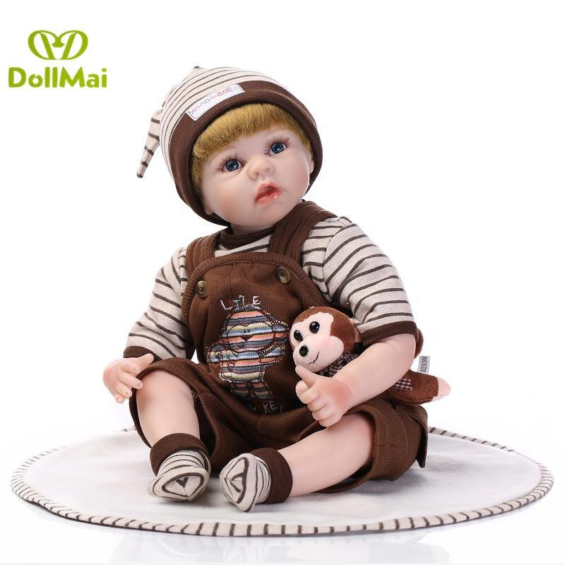 Bebes reborn ragazzo bambole 22 55 cm in silicone rinato bambole del bambino vivo reale bambole per il regalo dei bambini delle ragazze giocattoliBebes reborn ragazzo bambole 22 55 cm in silicone rinato bambole del bambino vivo reale bambole per il regalo dei bambini delle ragazze giocattoli