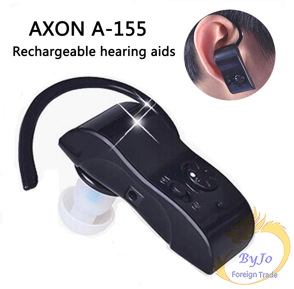 Fashion Axon A-155 Hearing aid Small In The Ear Invisible Best Digital Hearing Adjustable Tone Sound Amplifier axon hearing aid x 136