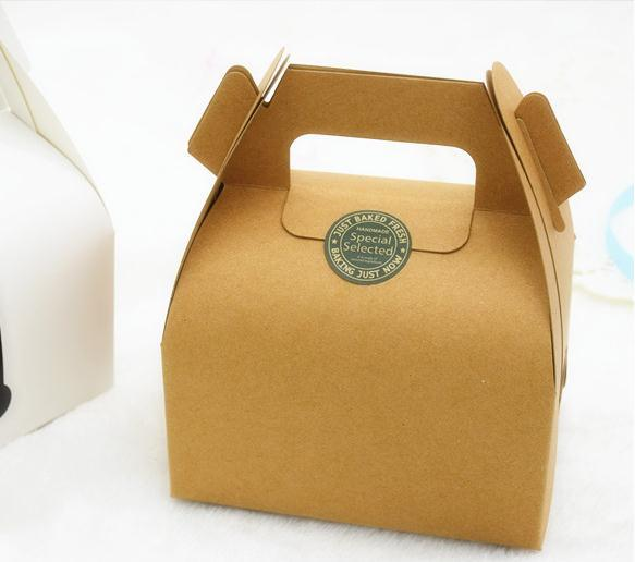 Free Shipping 40pcslot Kraft Paper Cake Packaging Box Dessert Magnificent Decorator Boxes