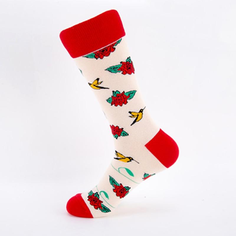 2018 Lolita Style Flower Skull Fashion Socks Short Pattern Funny Cotton Socks Women Winter Men Unisex Happy Short Socks Female in Socks from Underwear Sleepwears