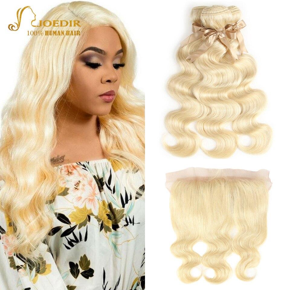Joedir Hair 613 Blonde Bundles With Frontal Brazilian Body Wave Bundles With Frontal Human Hair Remy 3 4 Bundles With Frontal