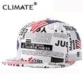 CLIMATE USA flag Newspaper Trump PU Snapback Cap New American President  Baseaball hat for men women sport hip hop bone sun cap