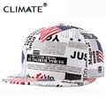 Climate ee. uu. bandera periódico trump pu snapback cap nuevo presidente norteamericano Baseaball hat para hombres mujeres deporte hip hop hueso gorra de sol