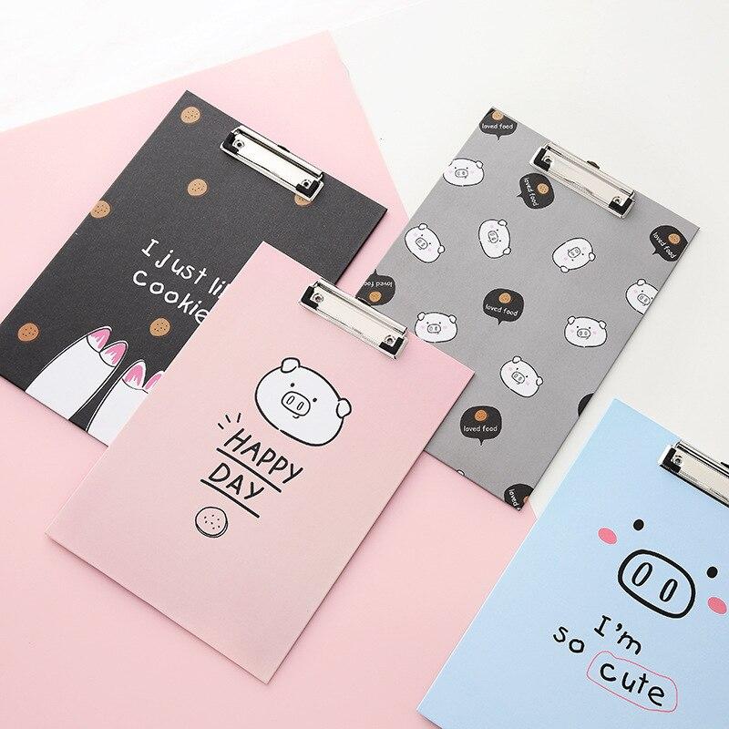 A4 File Clip Pigs Series Writing Clip Bills File Folder