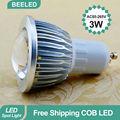LED spotlight GU10 COB LED bulb lamp Free Shipping China Post High brightness 3W 5W 7W GU10 Aluminum Warm White Cool White