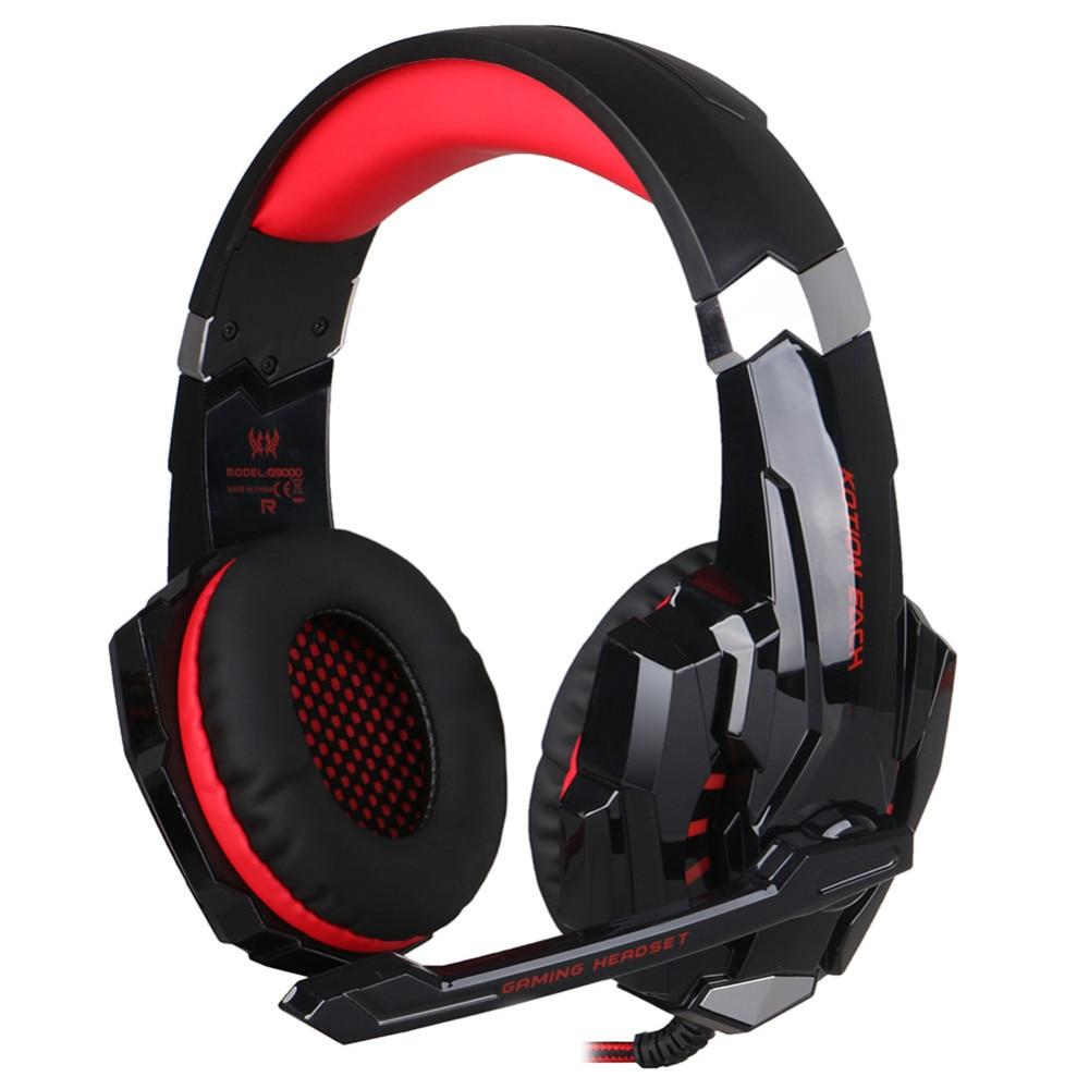 ФОТО EACH G9000 USB 7.1 Surround Sound Headset Gaming Headphone Game Stereo Hifi LED Light for PS4 PC Tablet Headband Head Phones