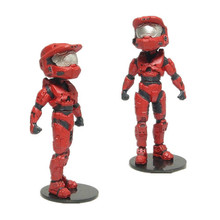 RED SPARTAN WARRIOR FIGURE EXCELLENT! LIMITED !