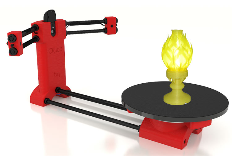 Reprap 3d Open source Ciclop 3d scanner DIY kit, red plastic injection molding parts free shiping ciclop diy 3d three dimensional scanner adapter plate precision machine parts for 3d printer parts