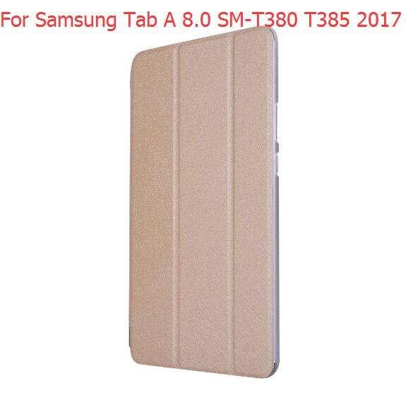 New Ultra Slim Magnetic Case For Samsung Galaxy Tab A 8.0 T380 T385 2017 8.0 Inch Smart Cover Funda Tablet PU Stand Case
