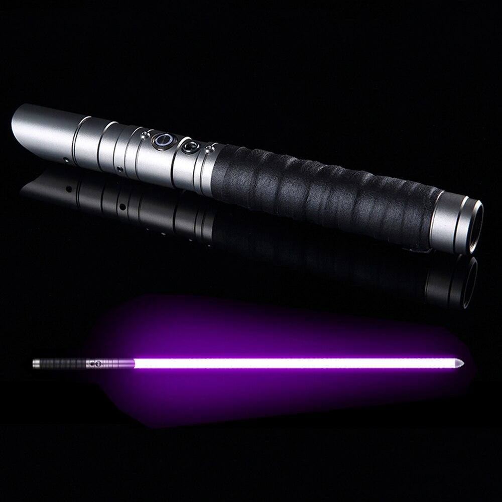 LGT RGB Sabre Laser Jedi Sith Luke Light Saber Force FX Lourd Duel Rechargeable Changement de Couleur Son FOC enfermer En Métal poignée