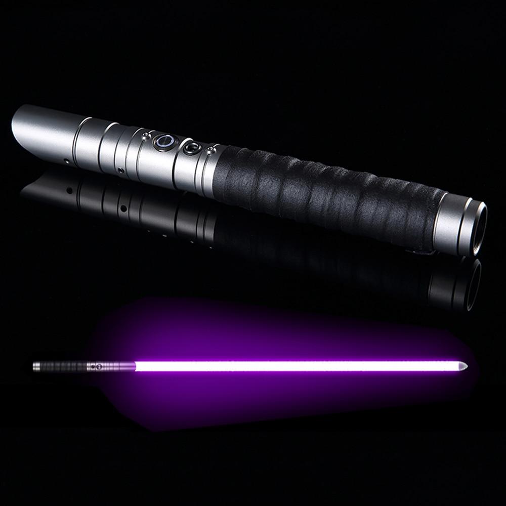 LGT-ZQR RGB sable láser Jedi Sith sable de luz de la fuerza FX pesado duelo recargable con el cambio de Color sonido FOC cerrar mango de Metal