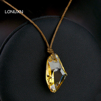 Jiao Bei Jewelry Crystal Necklace Wishing Stone Both Men And Women May Couple With Wax Rope