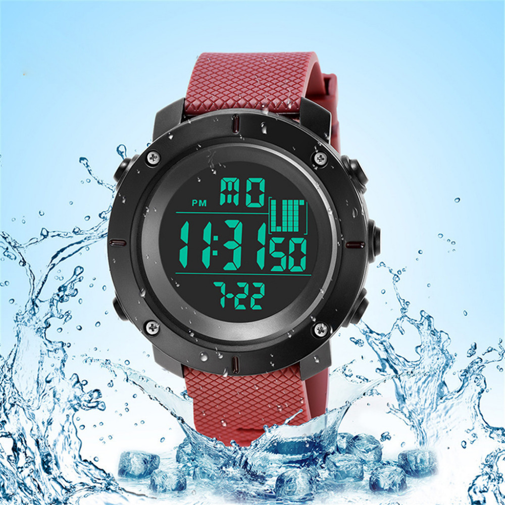 Digital Watches Men Reloj Hombre Sport 30M Waterproof LED Men Digital Dual Military Movement Electronics Watch Homme Montre MMD5