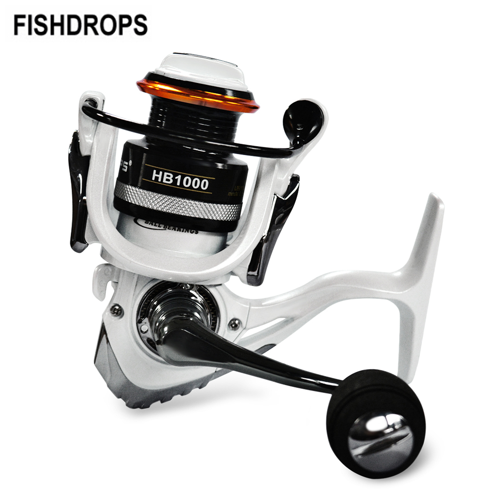 Fishdrops 12 + 1BB HB1000-7000 Serie 5,5: 1 Spinning Angeln Reel Voll Metall Karpfen Angeln Rad Carretilha mit 2 Spulen