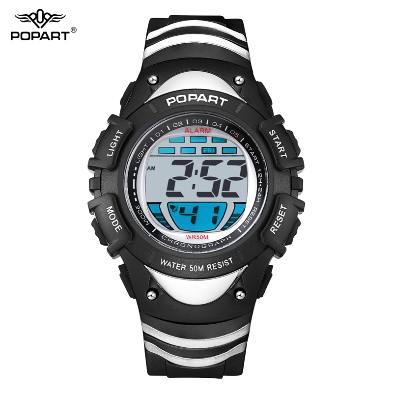 POPART Men Electronic LED Digital Watch Outdoor Sports Watches Waterproof Student Wristwatches Women Relojes Relogio Masculino children sports watch led digital wristwatches waterproof outdoor watches fashion girls boys student hours relogio feminino gift