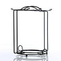 Welding Metal Display Holder For 6 Coffee Cups and 6 Plates Livingroom Decoration Black Color