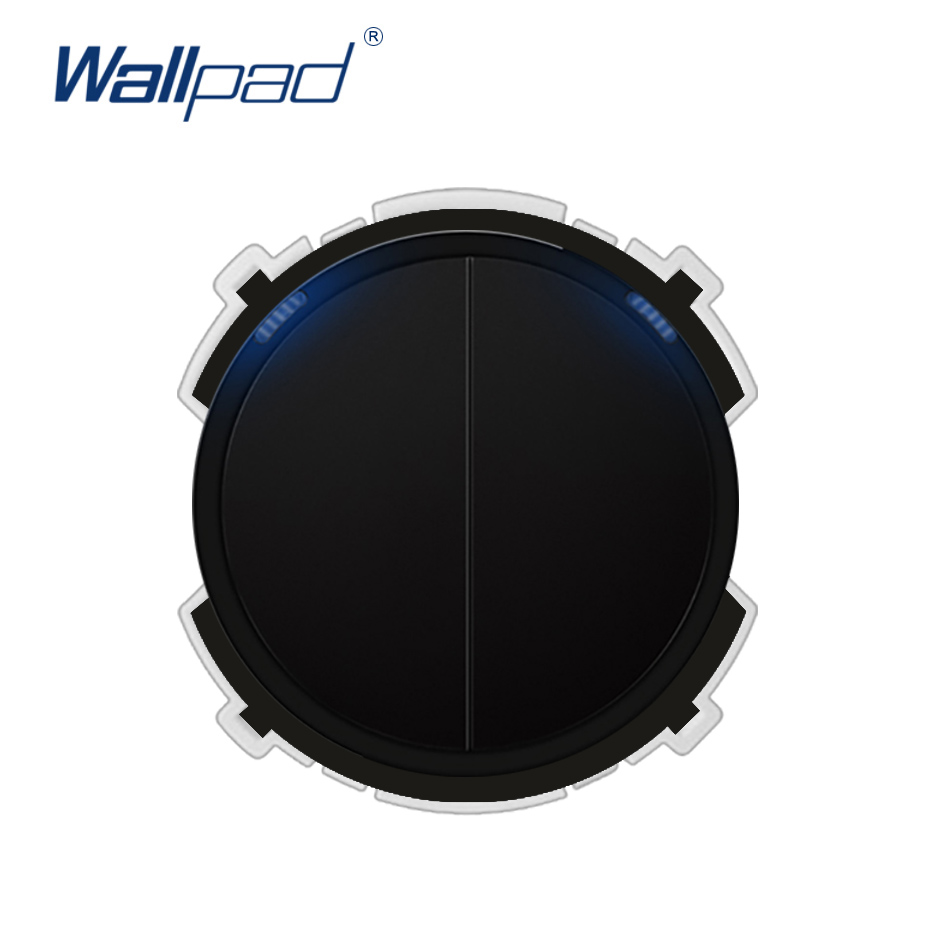 Wallpad 2 Gang 1 Way Wall Light Switch LED Indicator Function Key Only Free Combination