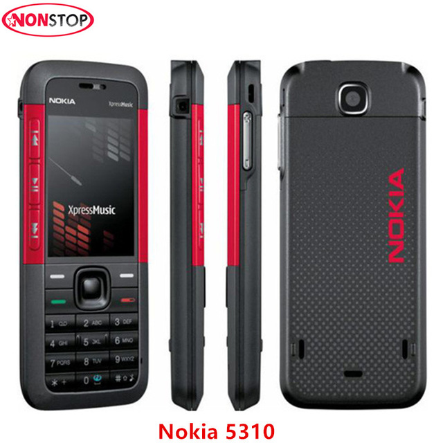 Original Unlocked 5310 Nokia 5310 Xpressmusic Bluetooth Java Mp3