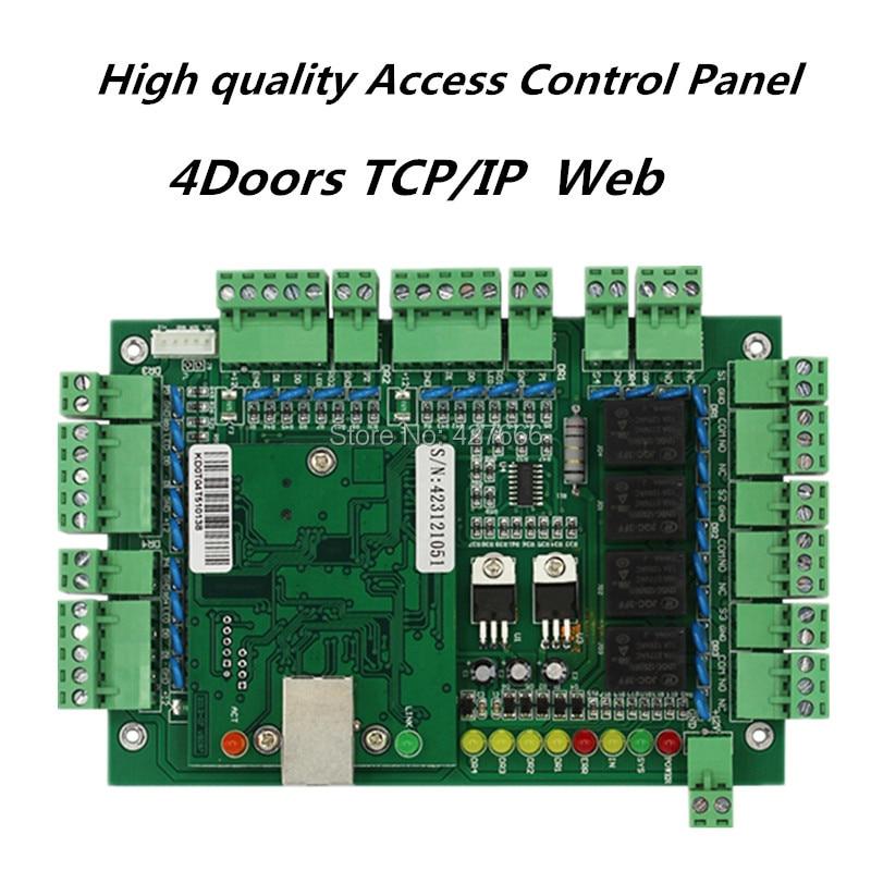 TCP/IP Access Control Panel Four-door One-way software Access Control Board zk c3 100 tcp ip access control board intelligent one door two way door access control panel with free software