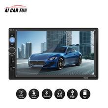 Universale 7 Pollici 2 Din Auto Radio MP5 Lettore Multimediale HD Dello Schermo di Tocco Audio Stereo Bluetooth USB AUX Supporto Videocamera vista posteriore