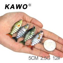 KAWO Fishing Swimbait Glide Swimming 5cm 2.5g Exhausting Lure 6 Section Fishing Lure Culter Contemporary Water Excessive High quality Fish Bait Pesca