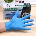 Синий одноразовые нитриловые перчатки без пудры резиновые латексные медицинские перчатки сгущаться 100 шт. AMMEX бесплатная доставка