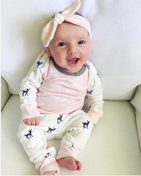 2019 autumn baby girl clothes set Long sleeve baby girl clothing newborn baby   rompers   Infant baby costume casual suits Outfits