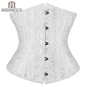 Image 4 - Corset noir pour femmes, ceinture mince, contrôle à la taille, sous le buste, Corset Sexy, grande taille S 6XL