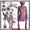 Free shipping Vocaloid MIKU SenbonZakura Cosplay Costume Vocaloid Uniform Custom-made