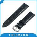 18mm croco genuine pulseira de couro para o huawei watch asus zenwatch 2 45mm das mulheres 2015 smartwatch banda strap pulseira multi color