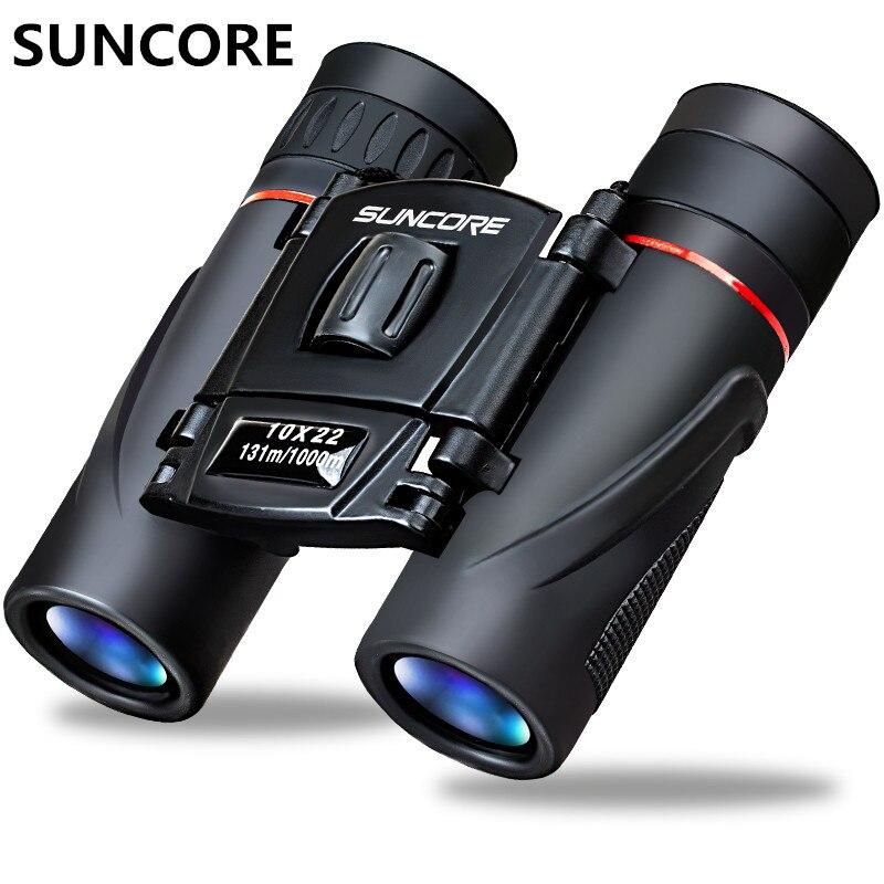 SUNCORE extérieur de haute qualité voyageur 10X22 poche grand télescope binoculaire HD vision nocturne 1000