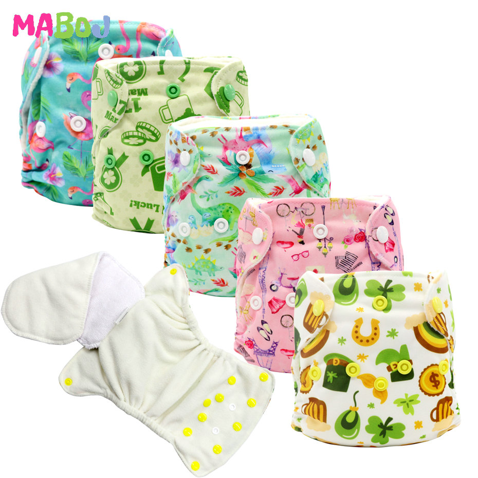 MABOJ Newborn Diaper Washable Nappies Cloth Diapers Baby AIO Newborn All In One Night Nappy Reusable Waterproof Dropshipping