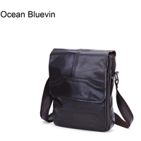 OCEAN BLUEVIN New Hot Casual Men's Small Bag Leather Shoulder Bag Genuine Leather Messenger Crossbody Travel Bag for Men Handbag