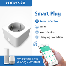 hot deal buy konke eu timer wifi socket plug outlet smart remote wireless controls for iphone ipad android remote control eu standard type e