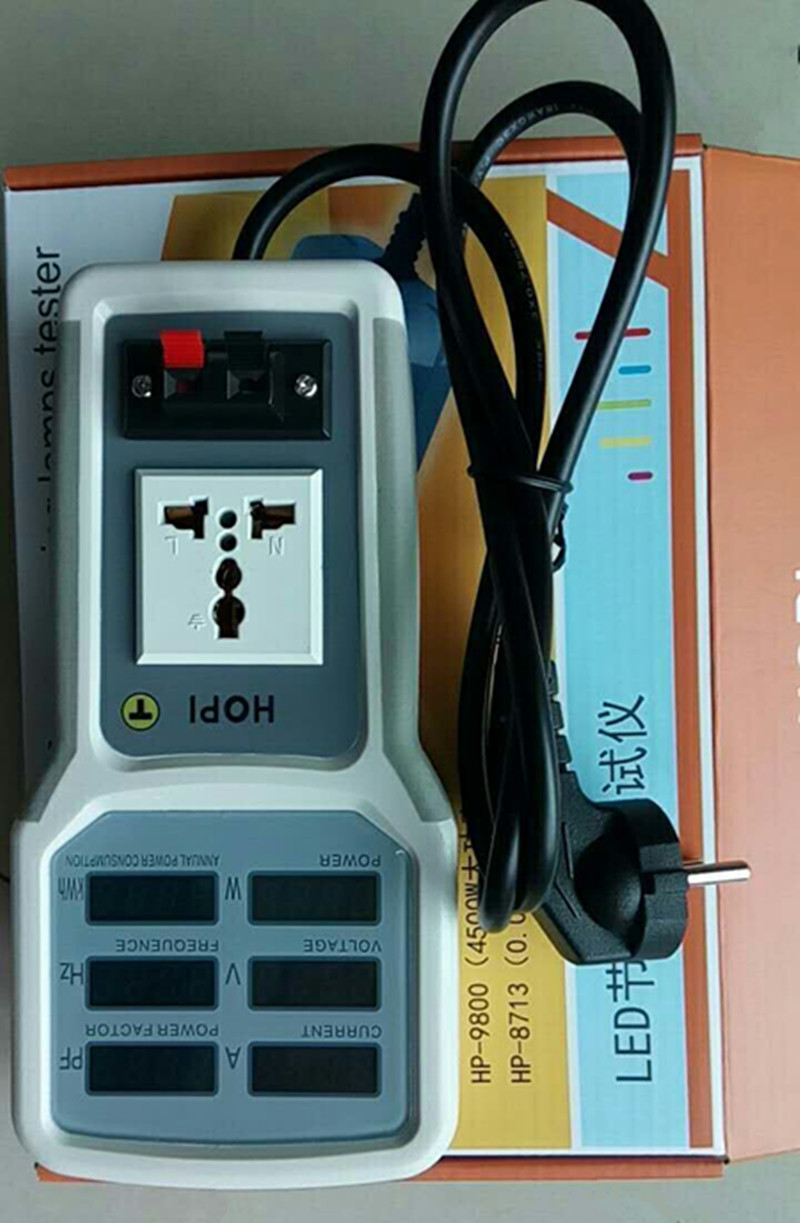 Digital Electric Power Energy Meter Tester Monitor Watt Meter Analyzer energy saving lamps tester HP9800 0-9999KW EU plug 4