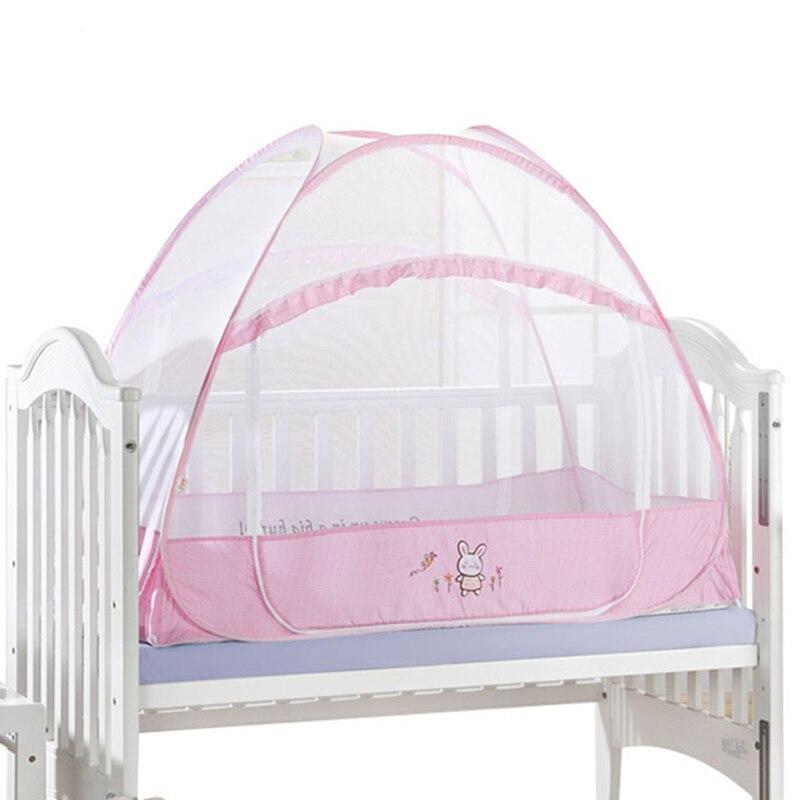 Double Door Type Crib Yurt Netting Larger Space Baby Bed