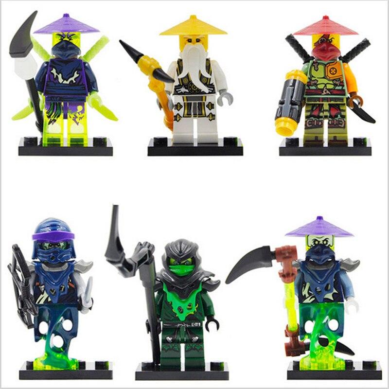 Lepin Pogo Bela 0092-0097 Wu Morro Ghoultar Acher Cowler Ninjagoe Thunder Swordsman Building Blocks Bricks Compatible Legoe Toys mantra 0097