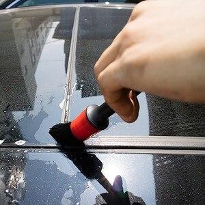 Image 5 - 5 Pcs Auto Detaillierung Pinsel Auto Reinigung Pinsel Natürliche Wildschwein Haar Auto Reinigung Werkzeug Für Auto Innen Lücke Felgen Dashboard rad