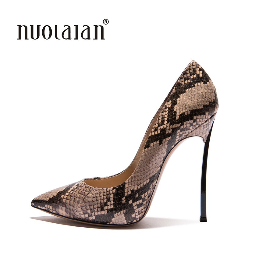 2018 New Brand Sexy Women Pumps Snake Printed High Heels Pointed Toe High Heel Party Dress Shoes Woman Size 35-42 zapatos mujer apoepo brand 2017 zapatos mujer black and red shoes women peep toe pumps sexy high heels shoes women s platform pumps size 43