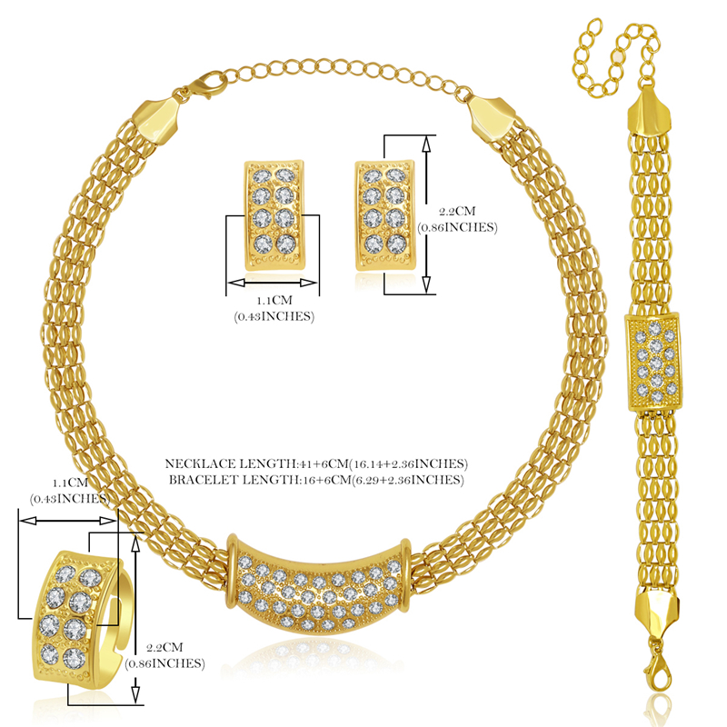 5af69ac4e614 5 colores elegante cristal bijoux gargantilla Collar para mujer fiesta  noche lujo JURAN moda joyería Accesorios