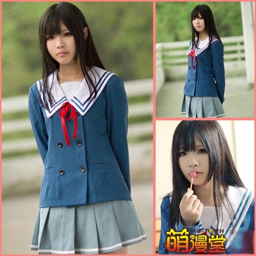 Beyond the Boundary Kyoukai no Kanata Mirai Kuriyama Ai Shindou Mitsuki Nase school uniform Cosplay Costume Anime Clothes