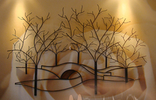 Wrought iron wall act the role of Europe type restoring ancient ways creative hanging ofing household