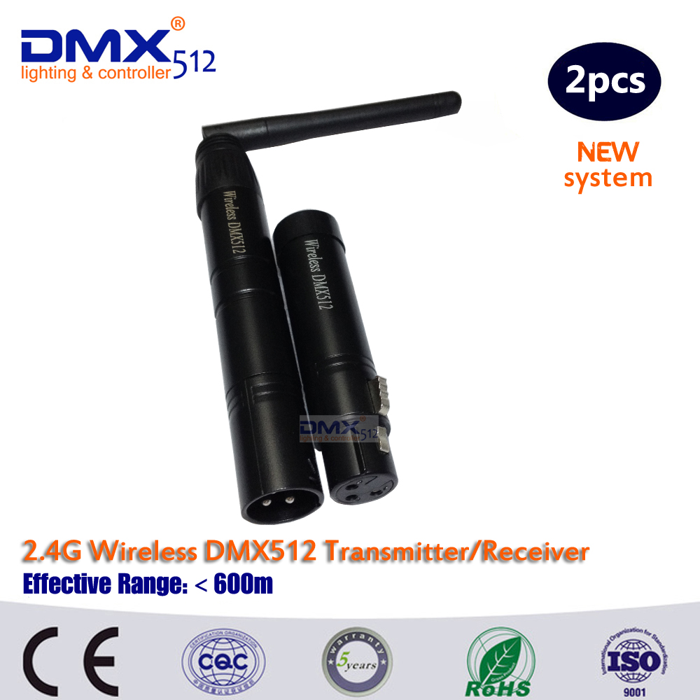 DHL Free Shipping DMX512 antenna wireless transmitter and receiver