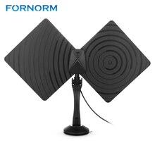FORNORM HD טלוויזיה דיגיטלי מקורה אנטנת HDTV גבוהה Gain50 קילומטרים מגבר טווח ATSC ISDB DVB עם 10ft גבוהה ביצועים לשדל כבל