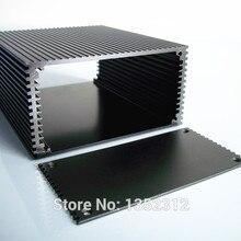 112*58*135 мм интегрированная алюминиевая коробка для электронного корпуса проекта DIY PCB shell усилитель мощности корпус кабельного выхода коробка