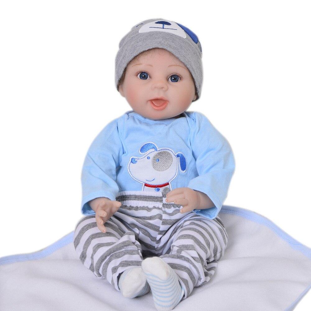 Bebe reborn boy baby dolls 22 pulgadas 55cm suave silicona reborn baby dolls para regalo infantil recién nacido real vivo l o l muñecas