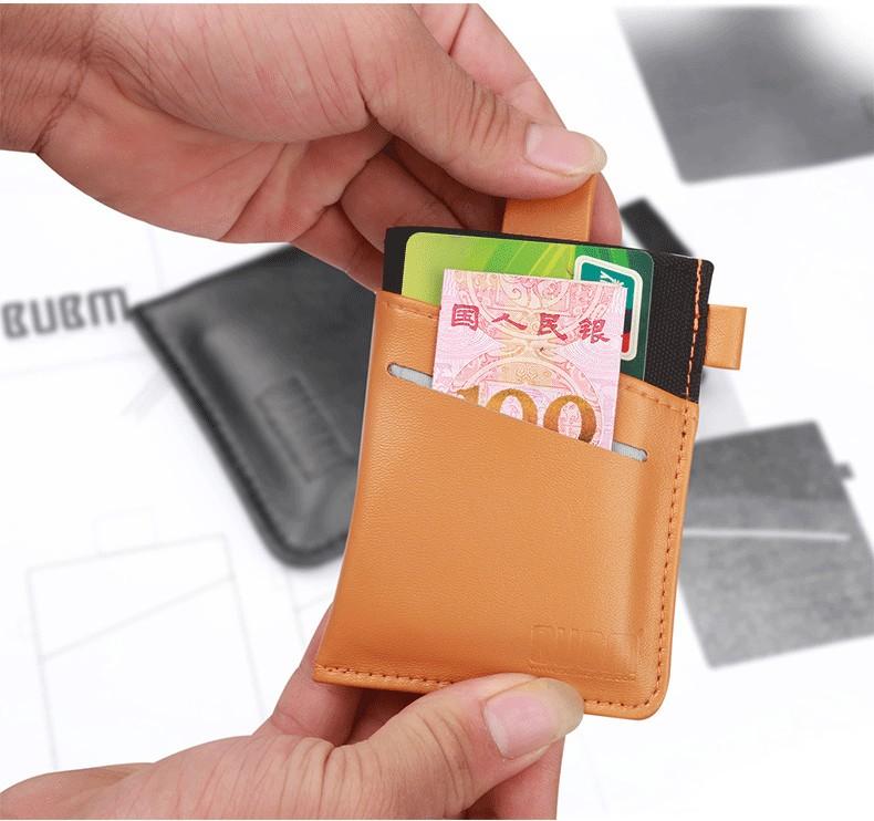 BUBM Men and Women Removable Cards Holders Bag Storage Organizor Pouch Money Change Key Bag
