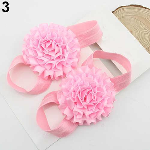 2019 Unusal 2 sztuk dziewczyna wstążka kwiaty sandały Barefoot skarpety buty z palcami 64ES