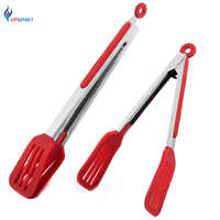 Upspirit Non-slip Silicone Bread Food Tongs For Baking Anti Heat Clip Tong Pastry Clamp BBQ Tongs Cooking Tools Kitchen Utensil
