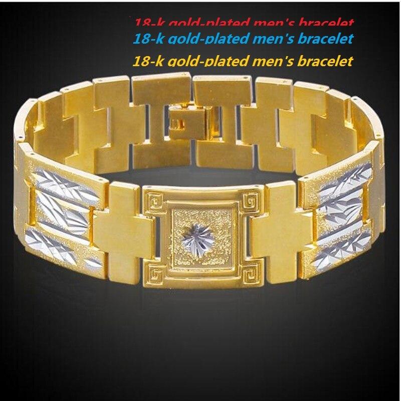 Stainless Steel Men's Bracelet Golden Bracelet Men's Wide Bracelet 4511